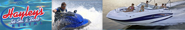 Welcome to Haley's Jet Ski and Boat Rentals