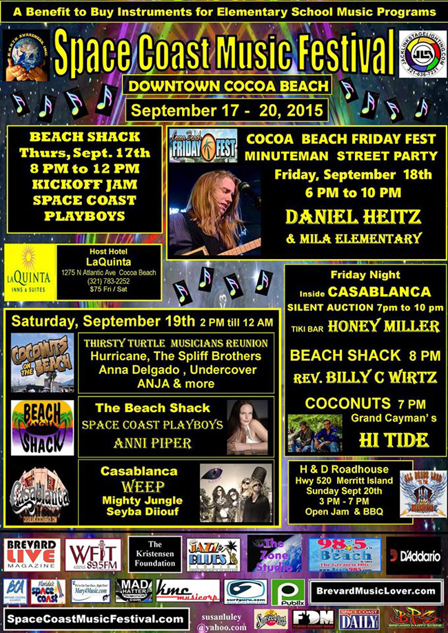 Support our local schools and Jam at the Space Coast Music Festival!
